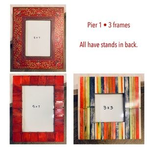 PEIR 1 bundle • 3 red eclectic photo frame bundle